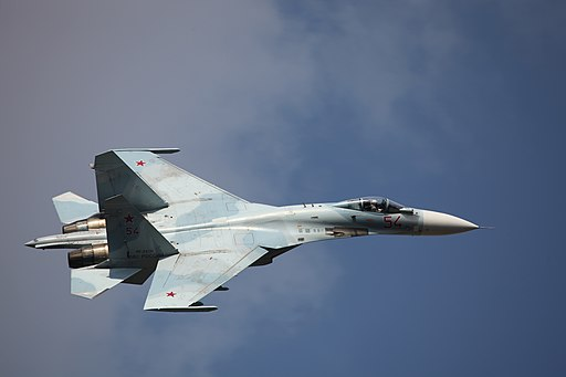 Su-27SM3 in flight, Celebration of the 100th anniversary of Russian Air Force