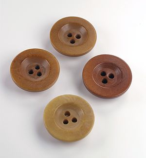 Buttons with just three holes.