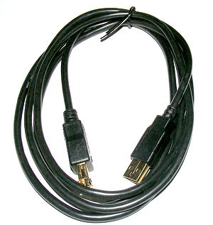 "A ""Tripp-lite"" USB connection cable...."