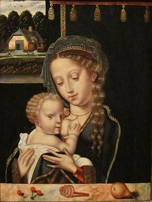 Madonna and Child Nursing