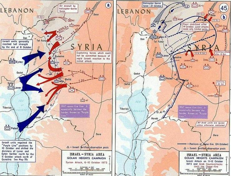 784px-1973_Yom_Kippur_War_-_Golan_heights_theater Сирия и Египет напали на Израиль. Война Судного дня
