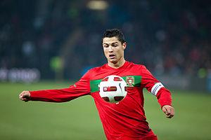 Cristiano Ronaldo during the friendly match Po...