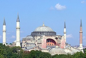 Hagia Sophia, an Eastern Orthodox church converted into a mosque