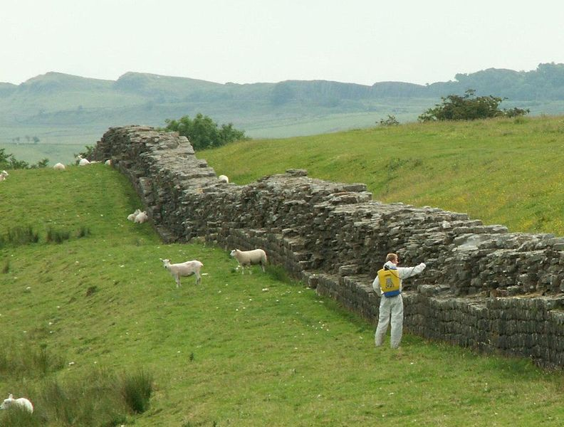 File:Hadrians Wall with Weedkiller.JPG