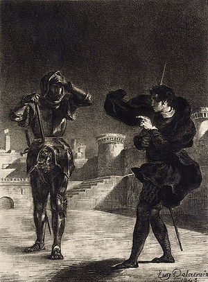 Hamlet, I, 5 - Hamlet and the ghost.