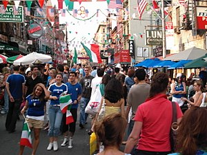 English: Little Italy in Manhattan on July 9, ...