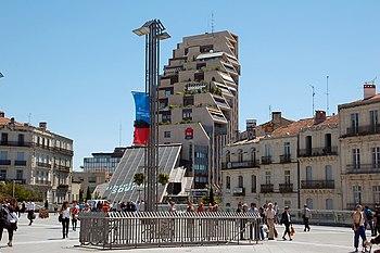 Place de la Comédie in Montpellier, Languedoc-...