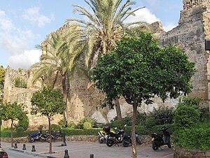 Muralla defensiva de Marbella, España.