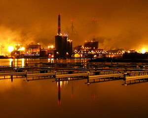Stora Enso pulp and paper mill in Oulu with an...