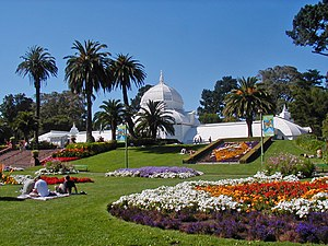 English: Conservatory of Flowers in Golden Gat...