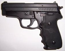 SIG P229 .40 S7W handgun.