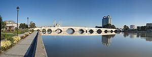 English: Roman Stone Bridge, Adana, Turkey Fra...
