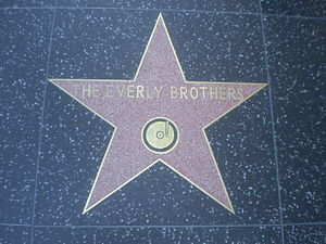 The star on the Hollywood Walk of Fame for the...
