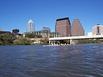 The view of downtown Austin, Texas fromTown La...