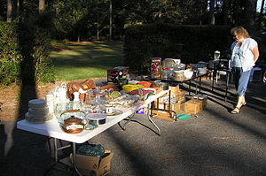 Yard sale in Moultrie, GA.