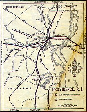1930 Providence road map