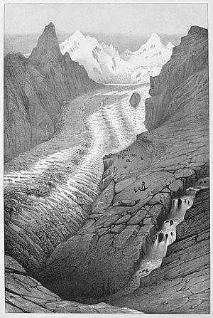 """J. Bettannier, """"Glacier de Zermatt"""",..."""