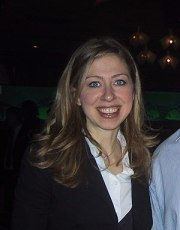 Derivative and cropped work of Chelsea Clinton