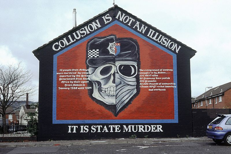 State terrorism mural by IRA