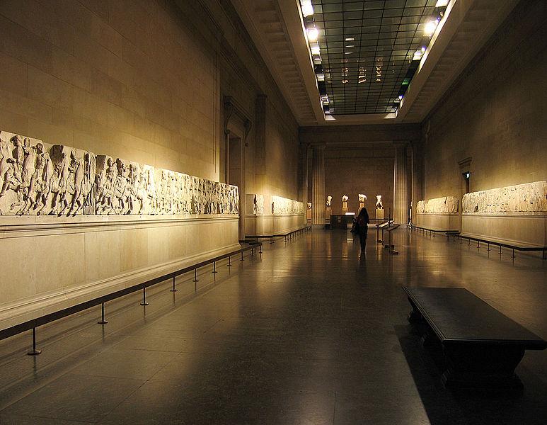 Los mármoles del Partenón, té y pastas