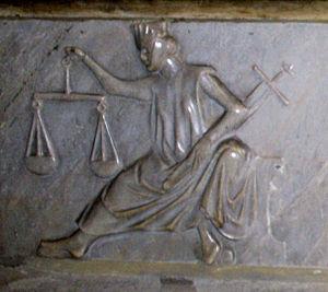 Papstgrab, Justitia