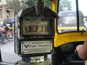 "A mechanical ""Super Auto Rickshaw Meter&q..."
