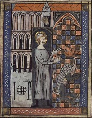 Saint Amand et le serpent (Saint Amandus and t...