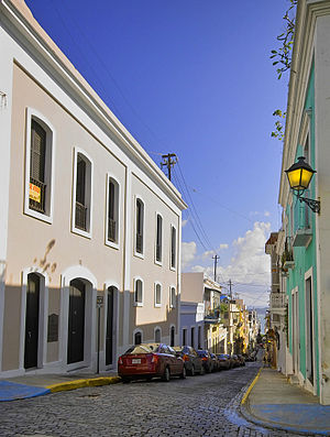 English: Streets in Old San Juan, Puerto Rico.