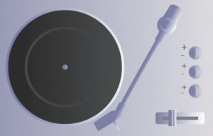 A turntable icon