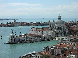 The city of Venice, built on 117 islands.