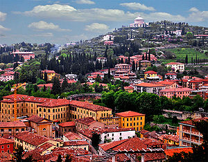 Partial view of Verona, Italy
