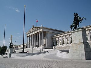 English: Austria, Vienna, Austrian Parliament ...