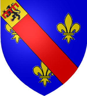 Coat of arms of the dukes of Bourbon from 1488...