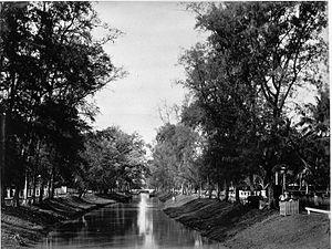 Nederlands: Foto. De wijk Tanah-Abang gelegen ...