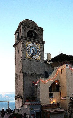 Clocktower at the Piazzetta, Capri