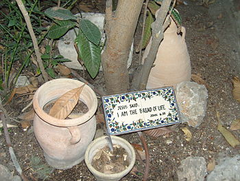English: Garden Tomb - sign