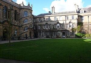The main quad of Hertford College, Oxford.