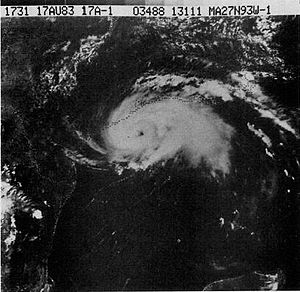 Hurricane Alicia on August 17, 1983