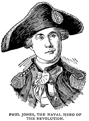 John Paul Jones, line drawing