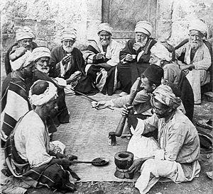 Coffeehouse in Palestine, circa 1900