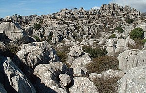English: Karst at El Torcal de Antequera, sout...
