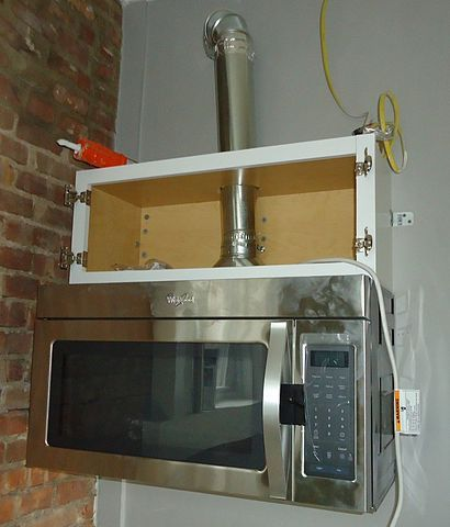 microwave with exhaust duct pipe jpg