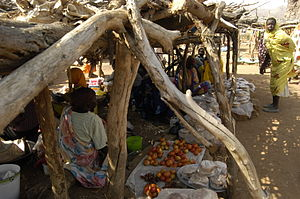 Market in Kurchi, Nuba mountains, Sudan