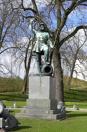 The statue Landsoldaten (