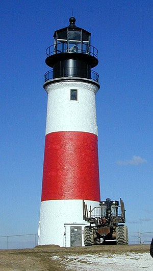 Sankaty Head lighthouse at the eastern end of ...