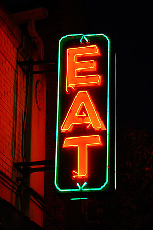 "English: Original Whitey's ""EAT"" sig..."