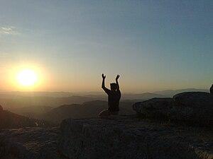 English: Neopagan meditation in Rocca di Cerer...