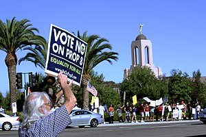 English: Opponents of California's Proposition...
