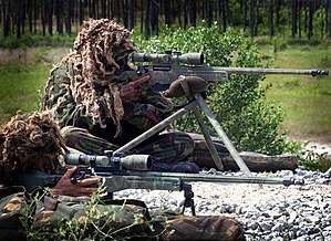 Royal Marines snipers with L115A1 sniper rifle