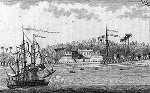 Vue de l'ile Saint-Louis du Sénégal prise du c...